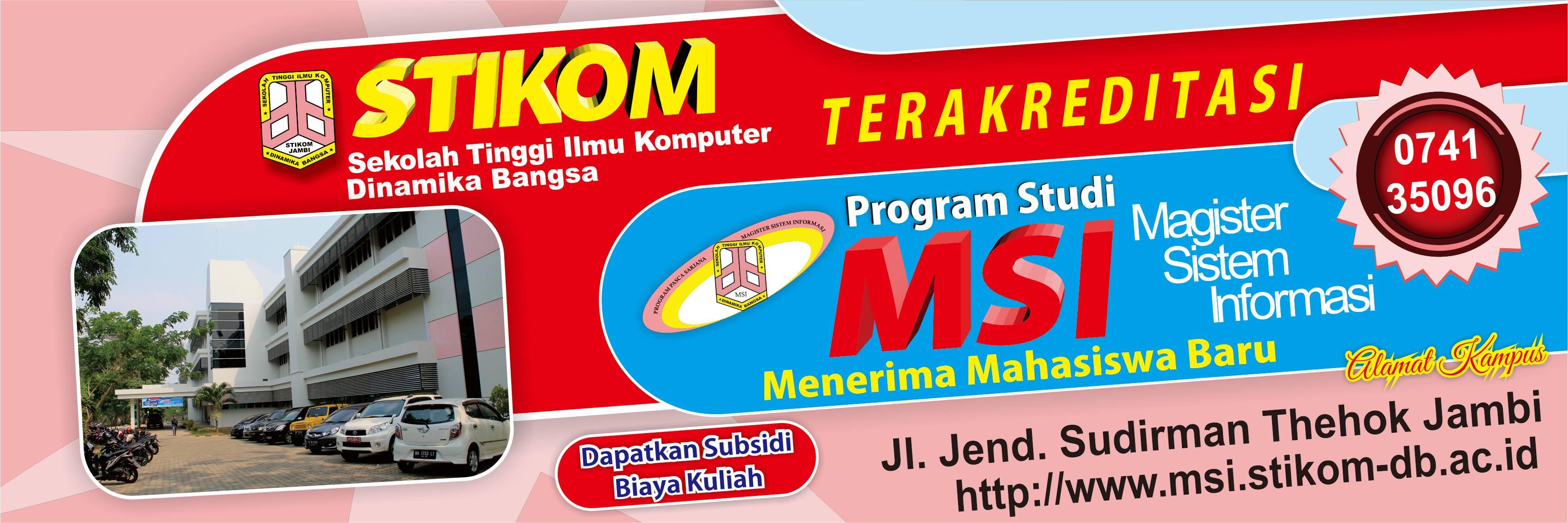 Penerimaan Mahasiswa Baru Magister Sistem Informasi 2016